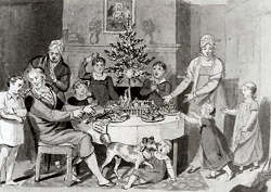 Weihnachten in einer Pennsylvania Dutch-Family, ca. 1815