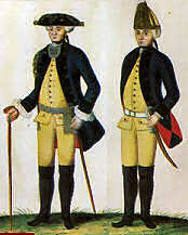 The Hessians - Presentation of the regiment of DonopIn the years (the War of Independence 1775-1783)