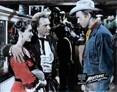 Jimmy Stewart mit Arthur Kennedy und Julie Adams