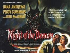 Plakat zu NIGHT OF THE DEMON (Der Fluch des Dämonen)