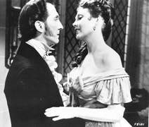 Peter Cushing und hazel Court in THE CURSE OF FRANKENSTEIN (Frankensteins Fluch)