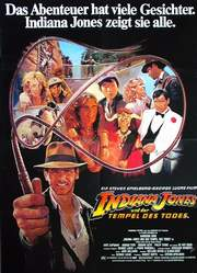 Plakat zu INDIAN JONES AND THE TEMPLE OF DOOM (Indiana Jones und der Tempel des Todes)