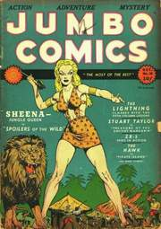JUMBO COMICS mit SHEENA-Cover