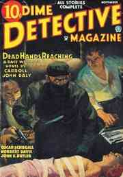 Dime Detective Magazine mit Dead Hands Reaching